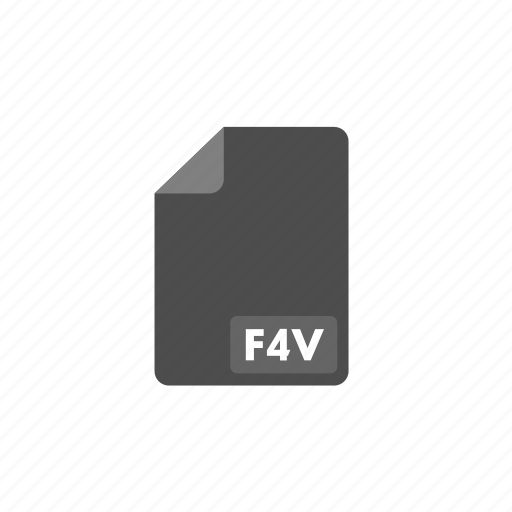 document, f4v, file, format, video icon