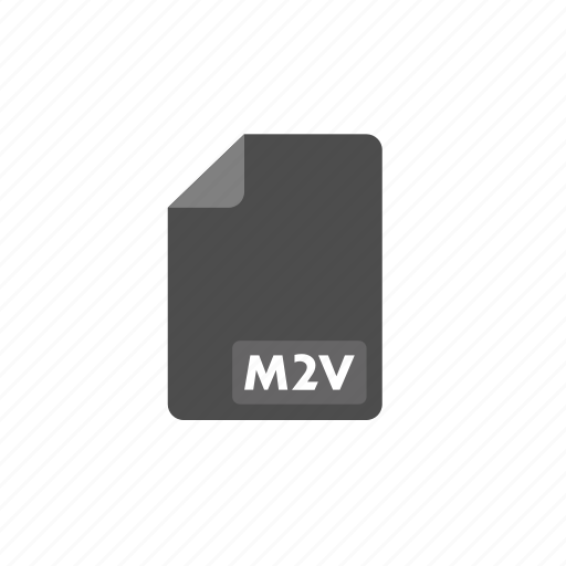document, file, format, m2v, video icon