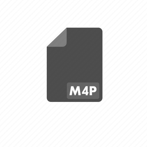 document, file, format, m4p, video icon