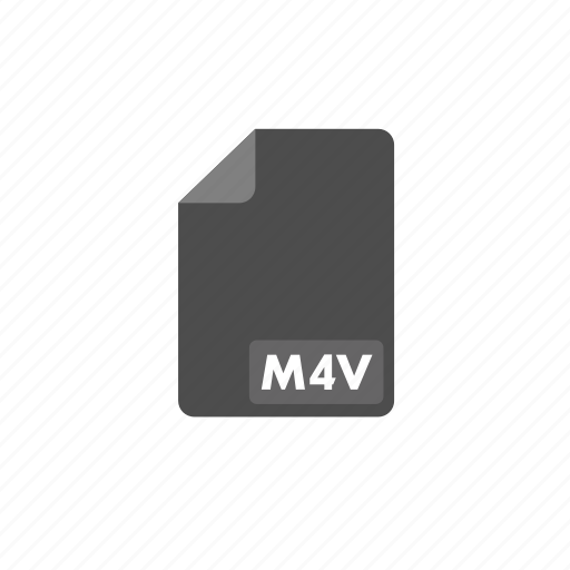 document, file, format, m4v, video icon