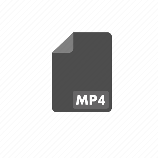 document, file, format, mp4, video icon