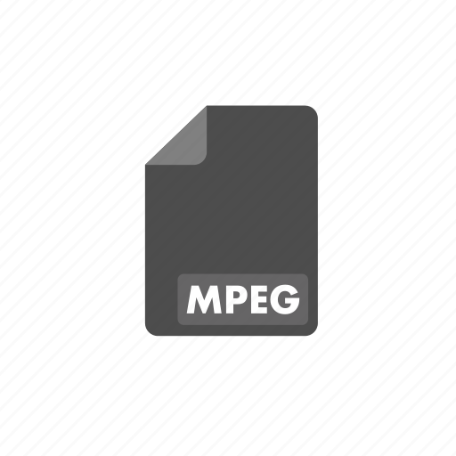 document, file, format, mpeg, video icon