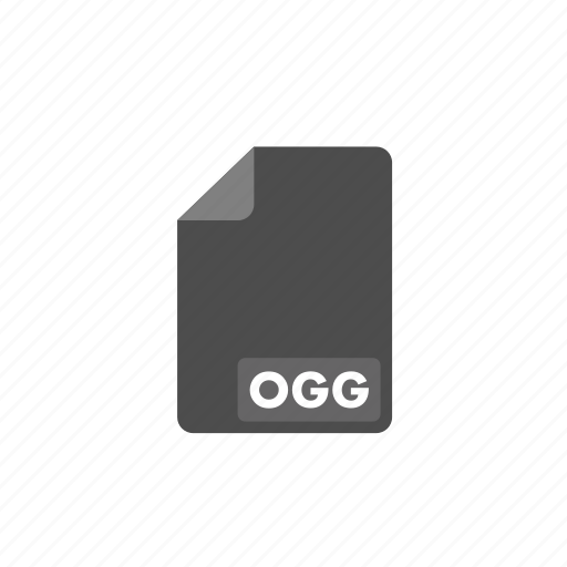 document, file, format, ogg, video icon