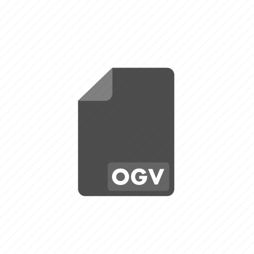 document, file, format, ogv, video icon