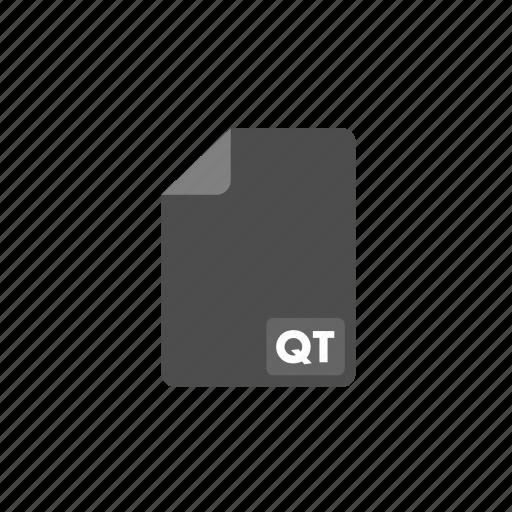document, file, format, qt, video icon