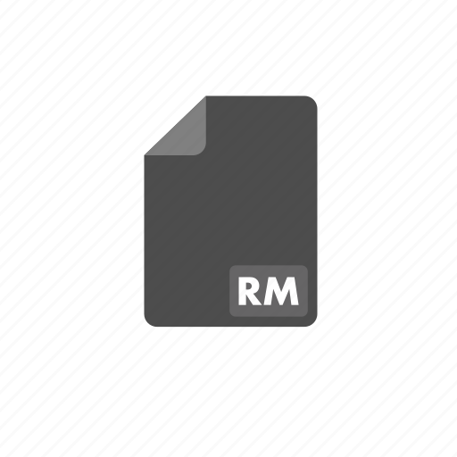 document, file, format, rm, video icon