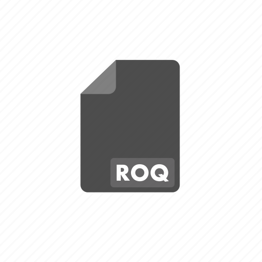document, file, format, roq, video icon