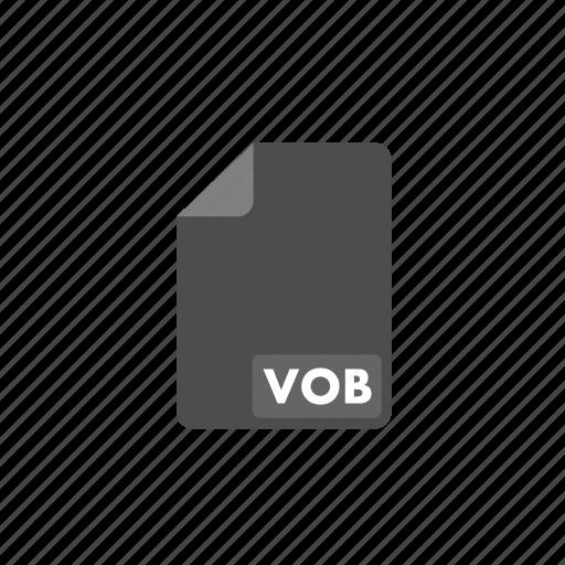 document, file, format, video, vob icon