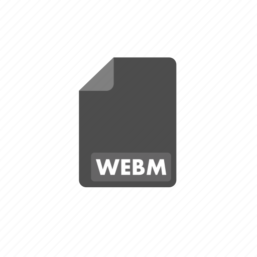 document, file, format, video, webm icon
