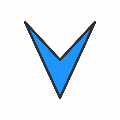 arrow, arrow down, navigator, pointer icon