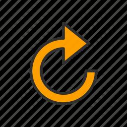 arrow, loading, refresh, upload icon