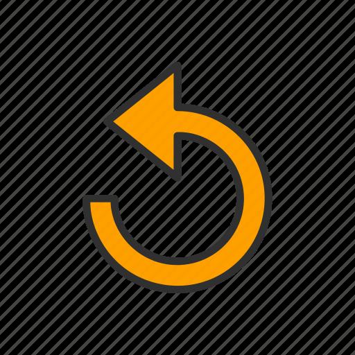 arrow, loading, refresh, share icon