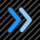fast forward, forward, next, right arrow icon