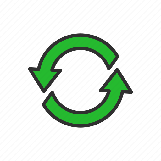 arrow, cycle, infinite loop, loading icon
