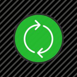 arrow, cycle, loading, loop icon