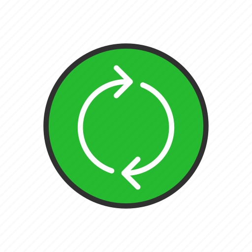arrow, cycle, loading, loop icon