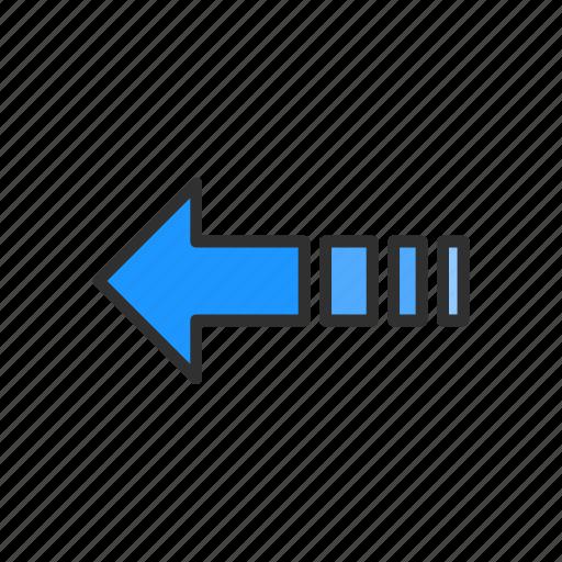 arrow, back, left arrow, pointer icon