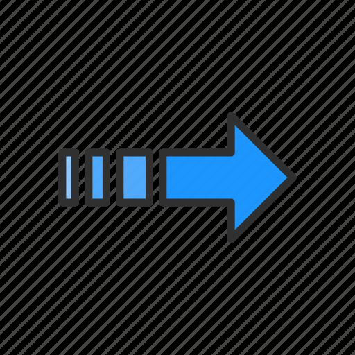 arrow, next, pointer, right arrow icon