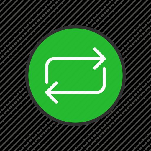 arrow, infinite loop, loading, share icon