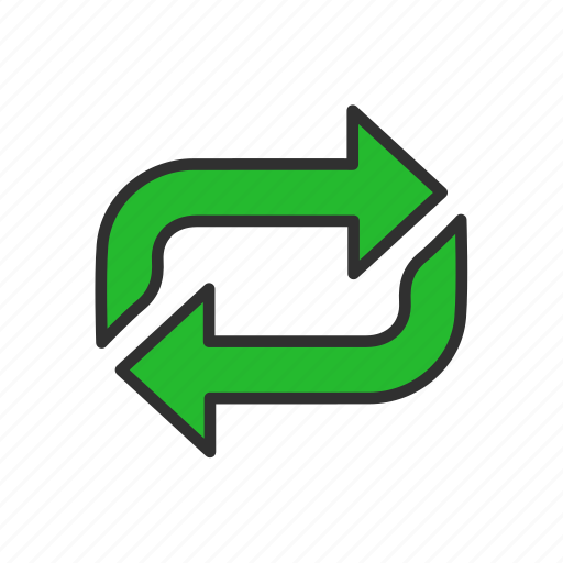 arrow, cycle, refresh, share icon