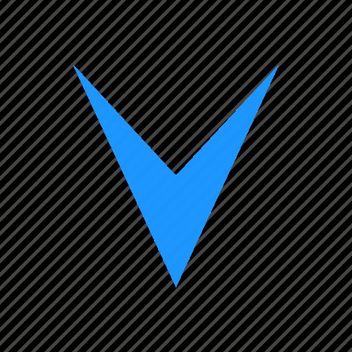 arrow down, down, navigation, pointer icon