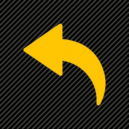 arrow left, back, cursor, return icon