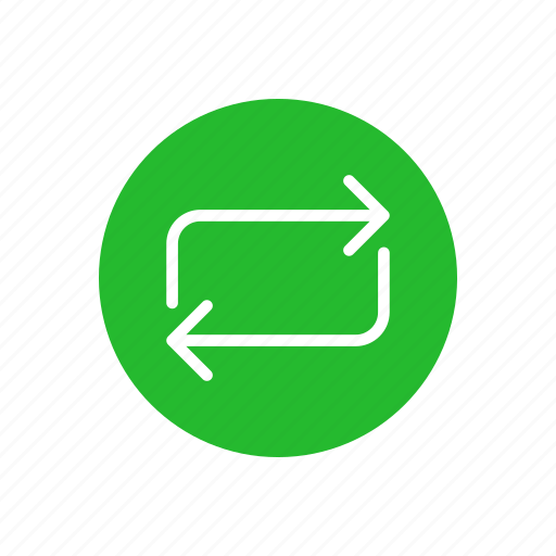process, rotate, share, thin line circle arrow icon