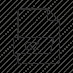 gnu, gnu zipped, gnu zipped archive, gz, gz file, gz icon, zipped file icon