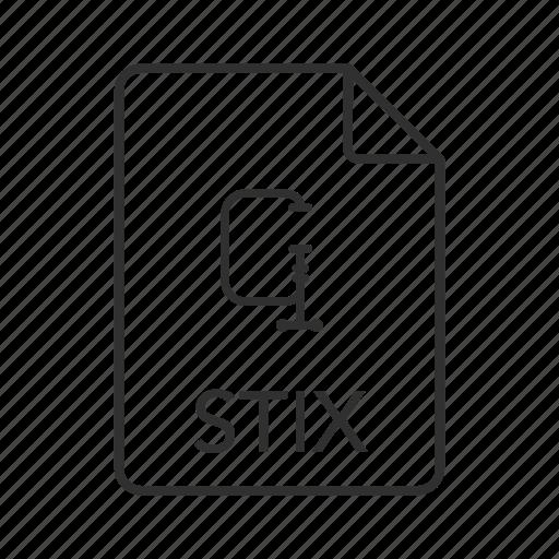 stix, stix file, stix icon, structured threat information expression icon