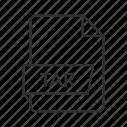 consolidated unix file, consolidated unix file archive, tar, tar file, tar icon, unix icon