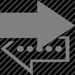 arrow, left, right, upload icon