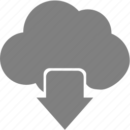 arrow, cloud, down, upload icon
