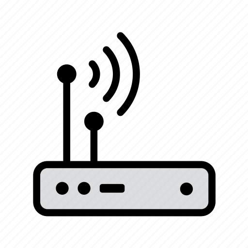 computer, device, internet, modem, router, technology, wireless icon