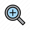computer, enlarge, magnify, magnifying glass, plus, magnifier, zoom
