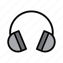 computer, headphone, headphones, headset, technology icon