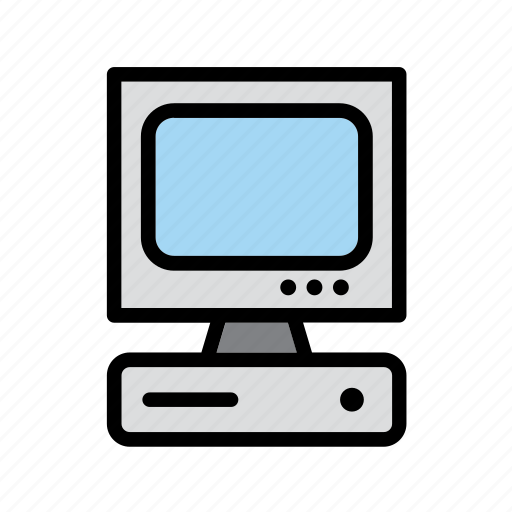 computer, desktop, personal, technology icon