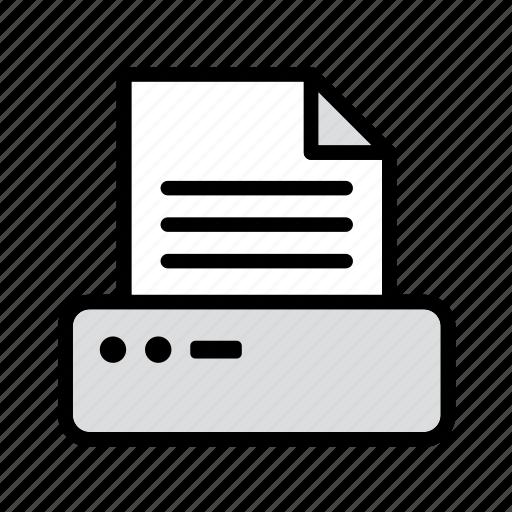computer, facsimile, fax, machine, printer, technology icon