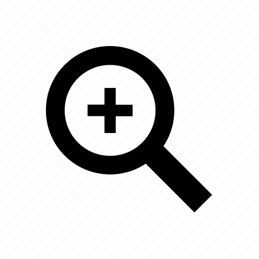 computer, enlarge, magnifier, magnify, magnifying glass, plus, zoom icon