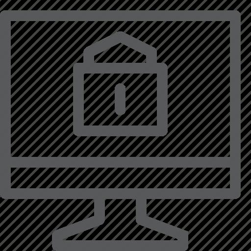 computer, desktop, device, display, imac, lock, monitor, screen icon