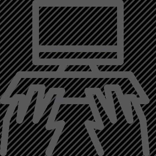 computer, desktop, device, display, imac, monitor, screen, typing icon