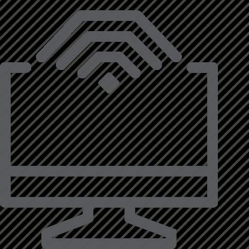 computer, desktop, device, display, imac, monitor, screen, wifi icon