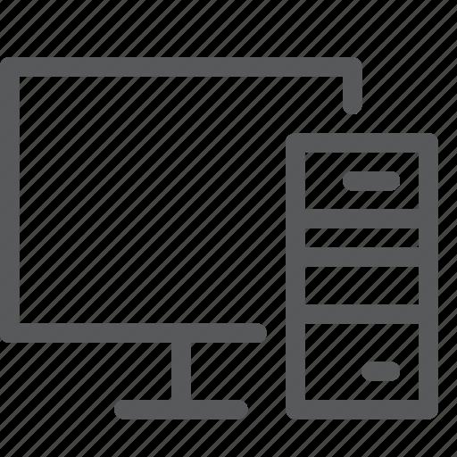 computer, desktop, device, display, monitor, pc, screen icon