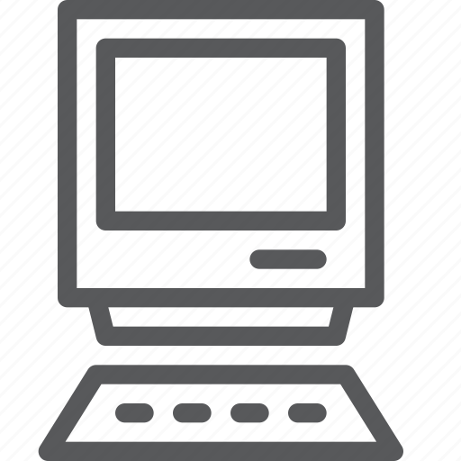 computer, desktop, pc, personal, private, technology, vintage icon