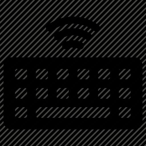 computer, keyboard, wireless icon