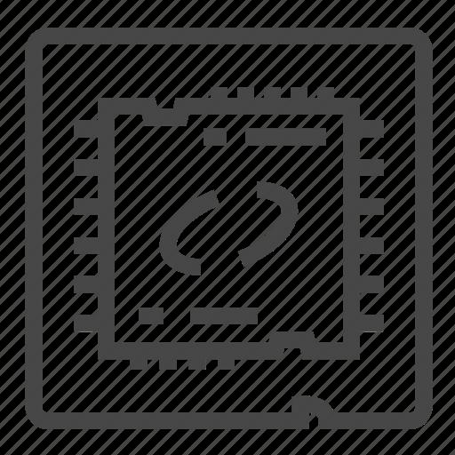computer, cpu, pc, processor icon