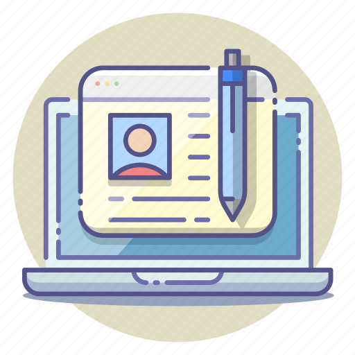 article, blog, blogging, content, post, posting, writer icon