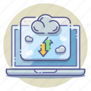 cloud, data, host, online, server, storage, transfer icon