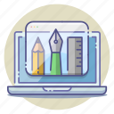 design, development, project, set, sketching, skills, tools icon