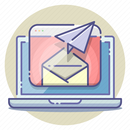 communication, email, letter, mail, marketing, newsletter, sending icon