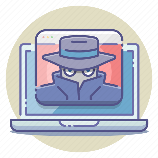 anonymous, hacker, malware, online, private, ransom, spy icon